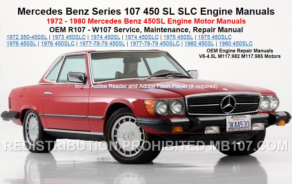 mercedes benz 107 engine repair motor service manuals rh mb107 com mercedes r107 service manual mercedes r107 workshop manual