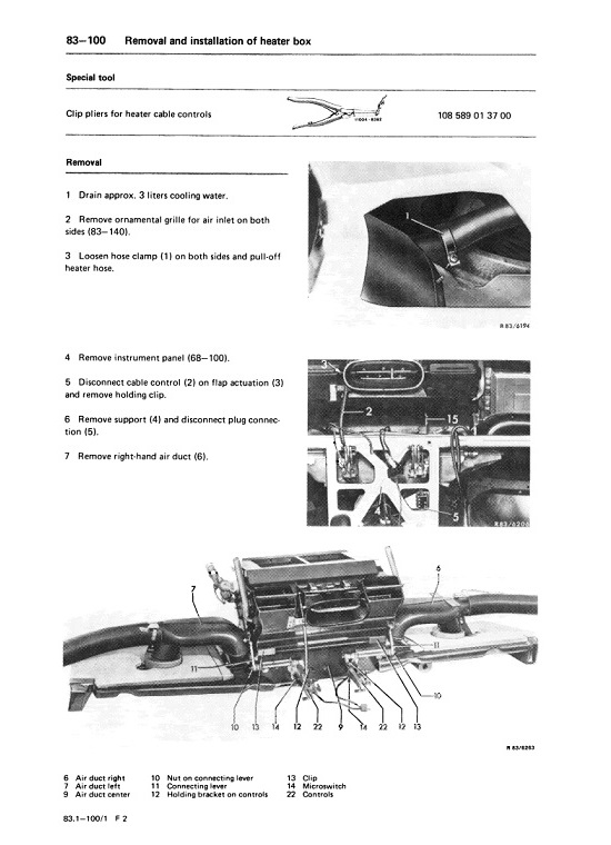 mercedes benz 107 climate control heat ac air condition manuals rh mb107 com  wiring diagram mercedes r107