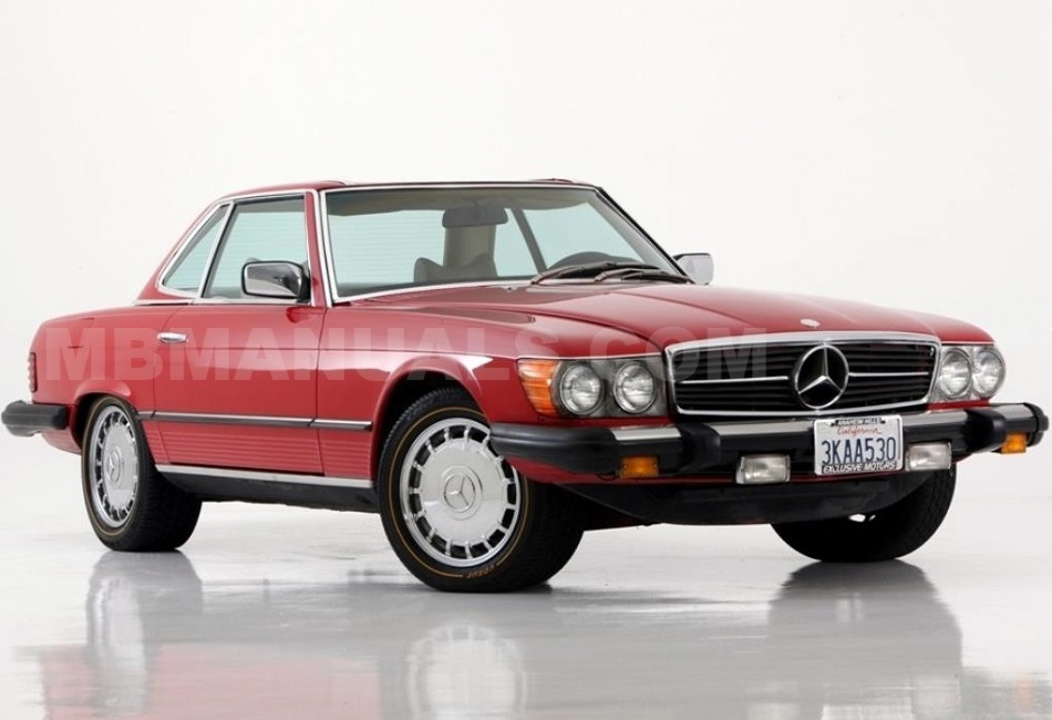 mb107sl mercedes benz 380sl (107 e38) r107 technical specs & manuals 1984 380SL Interior at mifinder.co