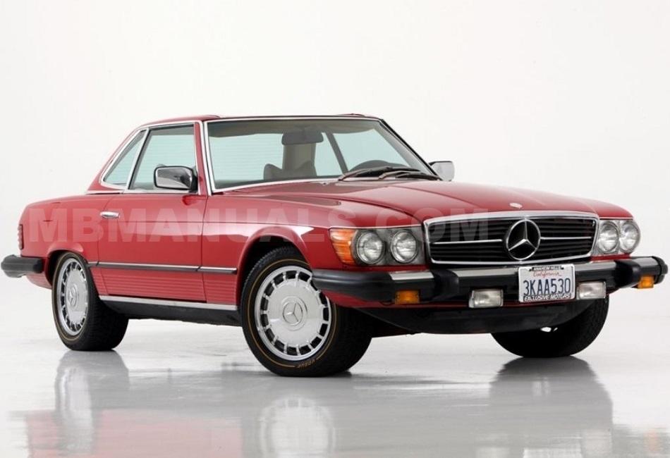 Mercedes Benz 560sl 107 E56 R107 Technical Specs Manuals