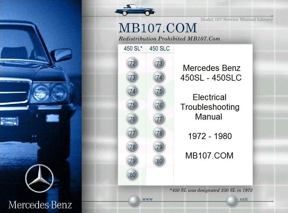 mb450 etm mercedes benz 107 electrical troubleshooting manuals 2015 Mercedes 500SL at webbmarketing.co