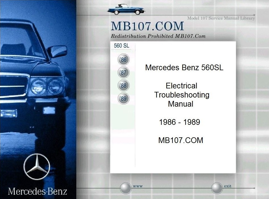 mercedes 450sl repair manual download