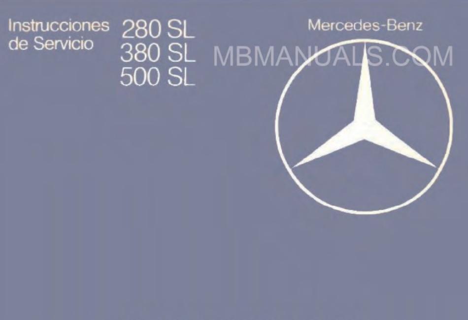 mercedes benz series 107 owners operators manuals 1976 Mercedes 450SL 1976 Mercedes 450SL