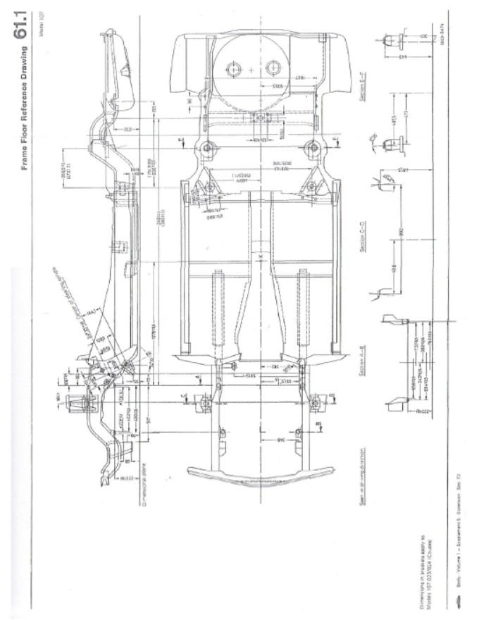 Mercedes Benz 107 Bodywork And Frame Manual  380 380sl 450 450sl 560 560sl
