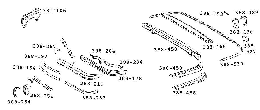 mercedes benz 107 sl slc roadster parts diagrams with part