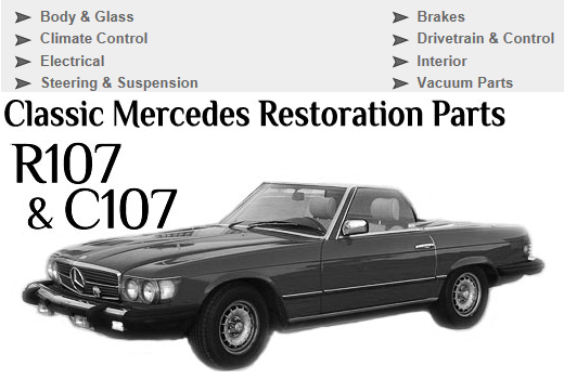 5 Easy Ways To Locate Parts For Your Mercedes Benz 107 Sl Slc